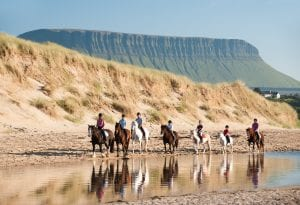 horse riding on sligo beach.