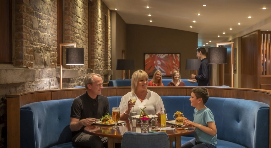 Family dining at Clayton Hotel Sligo