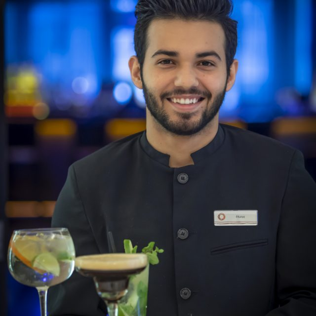 Clayton hotel staff serving cocktails